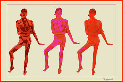 Pop Art Wall Art - Photograph - Male Thrice Red by Laurence Wolfe