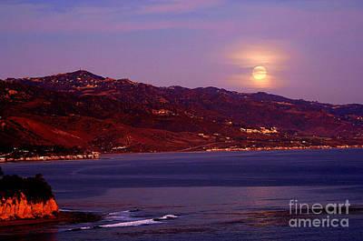 Malibu Moonrise Art Print by Marc Bittan