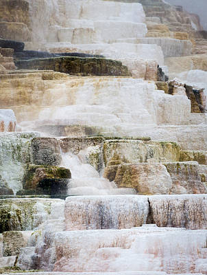 Photograph - Mammoth Hot Spring Terraces by Michael Chatt