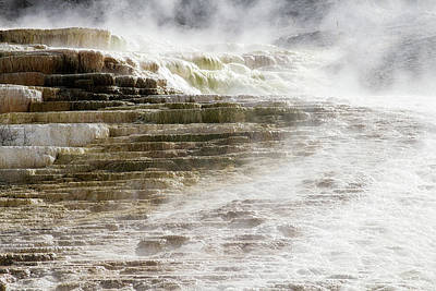 Photograph - Mammoth Hot Springs  by Shirley Mitchell
