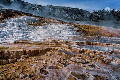 Photograph - Mammoth Hot Springs Yellowstone Np_grk7813_05282018-hdr  by Greg Kluempers