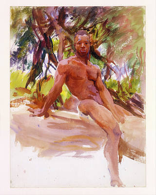Negro Painting - Man And Trees - Florida by John Singer Sargent