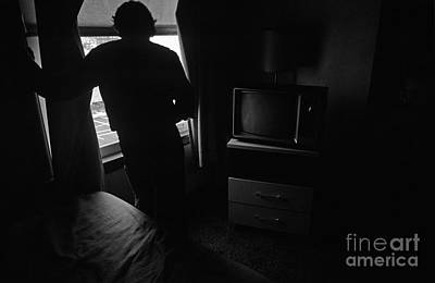 Photograph - Man At Window City Life by Jim Corwin