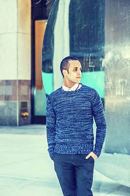 Photograph - Man Casual Fashion In New York by Alexander Image