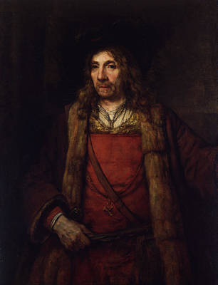 Portrait Painting - Man In A Fur-lined Coat by Rembrandt van Rijn