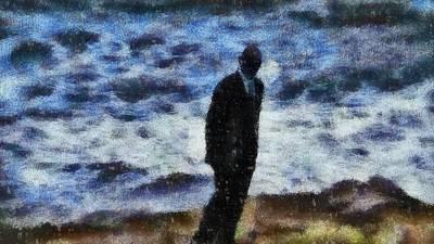 Man In Black Painting - Man In Black by John Springfield