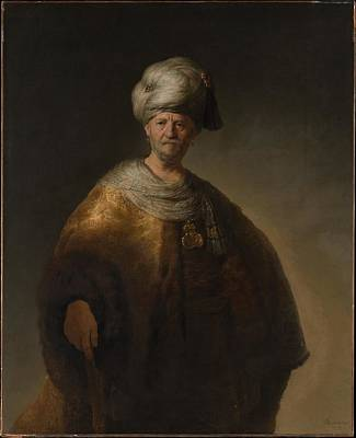 Slav Painting - Man In Oriental Costume The Noble Slav by Rembrandt