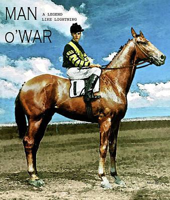 Clint Eastwood Art Painting - Man O' War, A Legend Like Lightning by Thomas Pollart