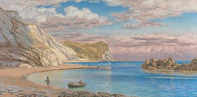 Brett Painting - Man Of War Rocks, Coast Of Dorset by John Brett