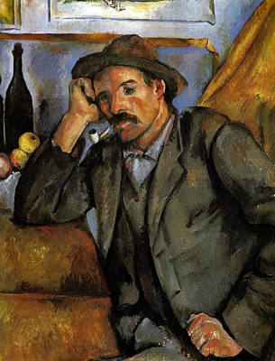 Pipe Painting - Man With A Pipe by Paul Cezanne