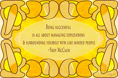Typographic Drawing - Managing Expectations Abstract Inspirational Art By Omashte by Troy McClain