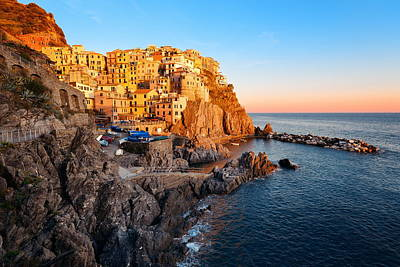 Photograph - Manarola In Cinque Terre  by Songquan Deng