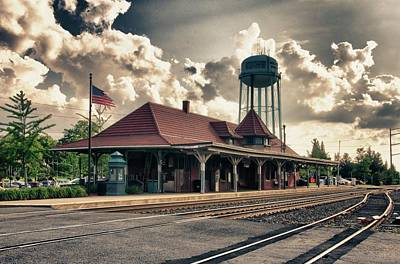Depot Photograph - Manassas Train Station by Gene Sizemore