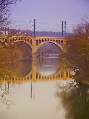 Manayunk Photograph - Manayunk Bridge by Bill Cannon