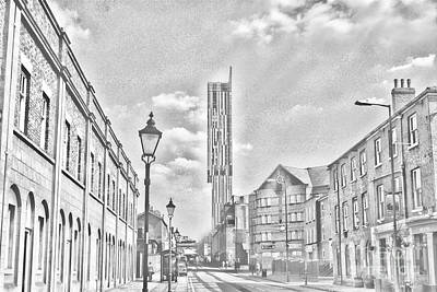 Manchester - Beetham Tower Art Print by Hristo Hristov