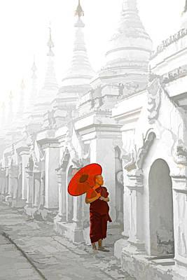 Mandalay Monk Art Print by Dennis Cox WorldViews