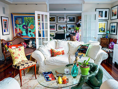 Photograph - Manhattan Living Room by Madeline Ellis
