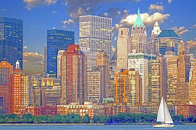 Digital Art - Manhattan Skyline by Kai Saarto