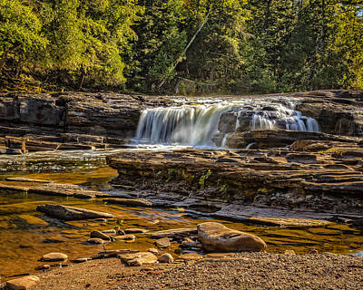 Photograph - Manido Falls by Jack R Perry