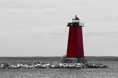 Photograph - Manistique Lighthouse by Tiffany Erdman