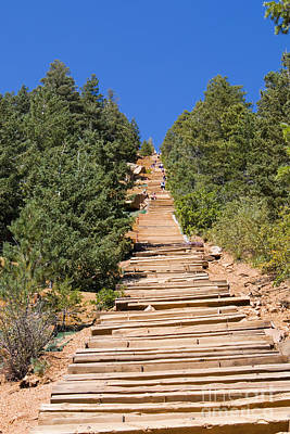 Steven Krull Photos - Manitou Springs Pikes Peak Incline by Steven Krull