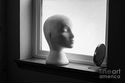 Freakish Photograph - Mannequin With Mirror by Jim Corwin