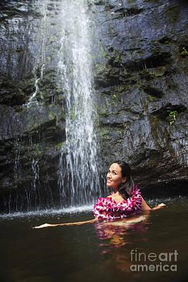 Manoa Falls Photograph - Manoa Falls by Brandon Tabiolo - Printscapes