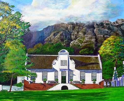 Mountain Sunset Painting - Manor House by Michael Durst