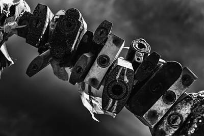 Photograph - Sealed Metal Padlocks Of Endless Time by John Williams