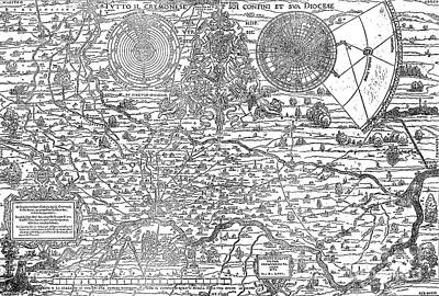 Map Of The Town And Diocese Of Cremona, 1571 Art Print