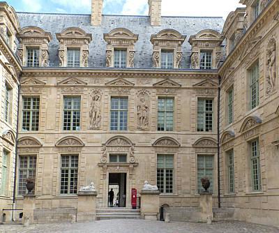 Digital Art - Marais Paris Street Scenes Hotel De Sully by Carol Ailles