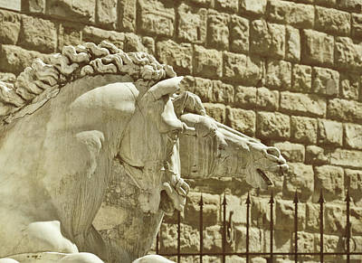 Photograph - Marble Firenze Sea-horses  by JAMART Photography
