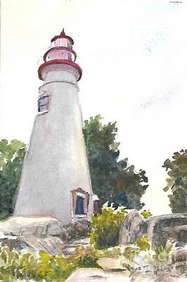 Marblehead Lighthouse Art Print by Terri  Meyer