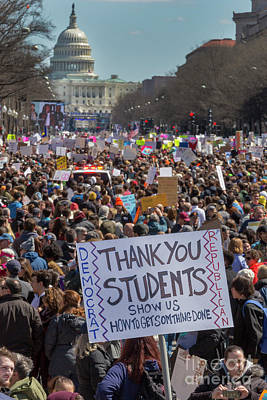 Photograph - March For Our Lives by Jim West