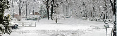 Photograph - March Snow Pano by Brian Wallace