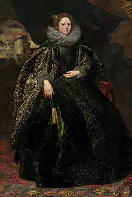 Fan Painting - Marchesa Balbi by Anthony van Dyck