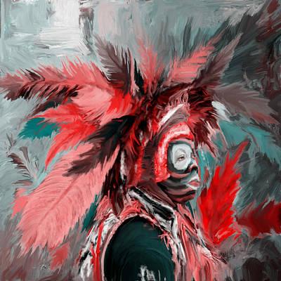 New Culture Painting - Mardi Gras 237 1 by Mawra Tahreem