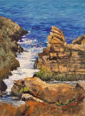 Ogunquit Marginal Way Painting - Marginal Inlet by Susan E Hanna