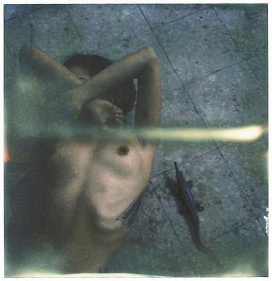 Polaroid Nude Photograph - Mari And Crocodile by Andrea S