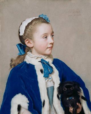 Pastel - Maria Frederike Van Reede-athlone At Seven by Jean-Etienne Liotard