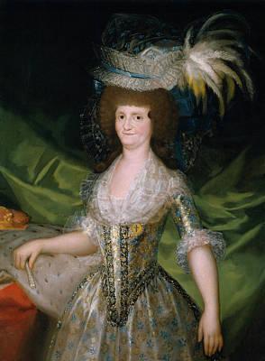 Fan Painting - Maria Luisa De Parma, Reina De Espana by Francisco Goya
