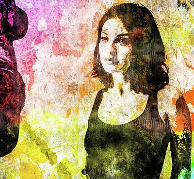 Mixed Media - Maria Valverde by Svelby Art