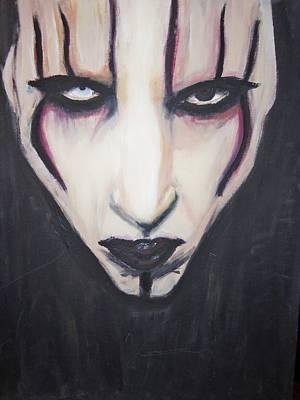 Marilyn Manson Art Print by Crystal  Rickman