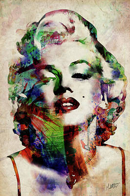 Actors Digital Art - Marilyn by Michael Tompsett
