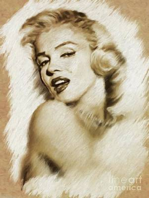 Actors Royalty-Free and Rights-Managed Images - Marilyn Monroe, Actress and Model by Mary Bassett