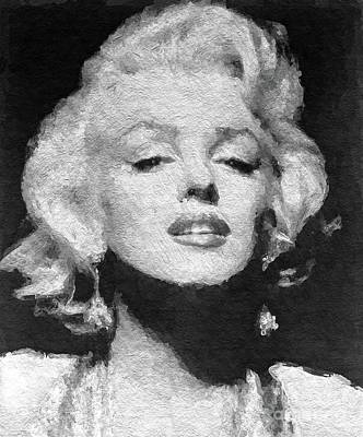 Actors Royalty-Free and Rights-Managed Images - Marilyn Monroe, Actress and Model by Sarah Kirk