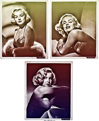 Digital Art - Marilyn Monroe by Allen Beilschmidt
