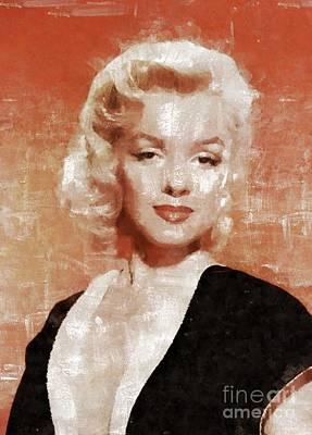 Actors Royalty-Free and Rights-Managed Images - Marilyn Monroe by Mary Bassett by Mary Bassett