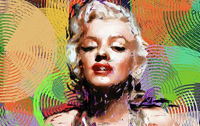 Digital Art - Marilyn Monroe by Sir Josef - Social Critic -  Maha Art