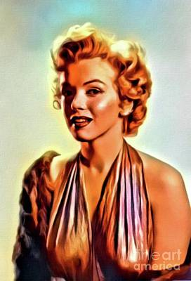 Actors Royalty-Free and Rights-Managed Images - Marilyn Monroe, Vintage Actress. Digital Art by MB by Mary Bassett